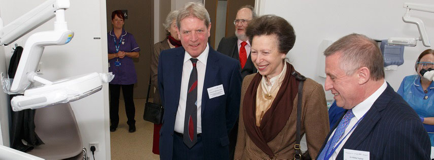 Her Royal Highness The Princess Royal at the opening of QMUL's new dental school