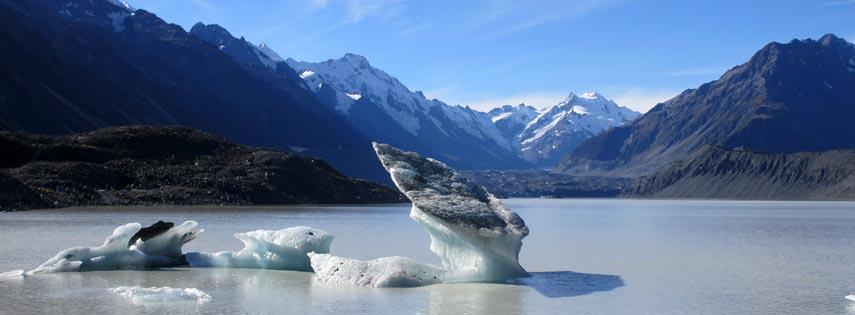 Tasman Proglacial Lake, New Zealand