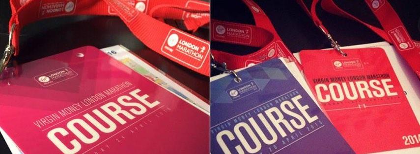 London marathon badges
