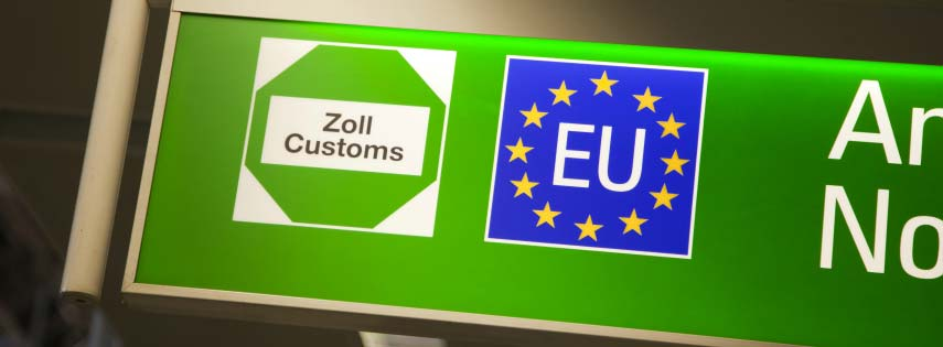 EU sign in airport