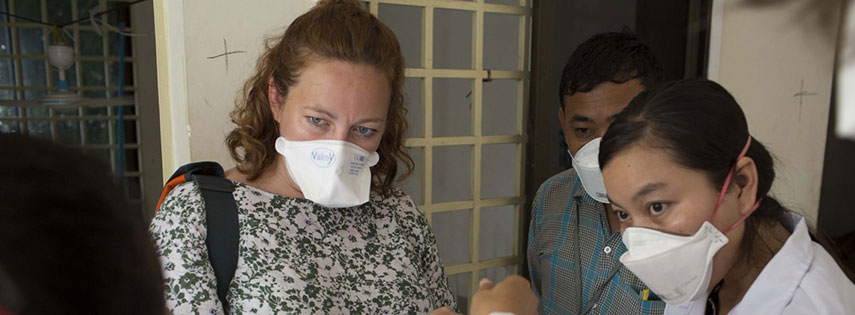 Dr Jess Potter in Cambodia