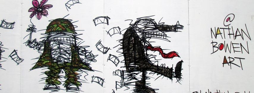 Image of street art by Nathan Bowen @NathanBowenArt