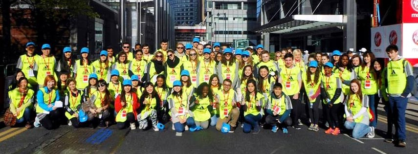 Queen Mary Students' Union (QMSU) Volunteer team for the London Marathon 2014