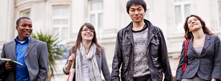Queen Mary University of London students on campus